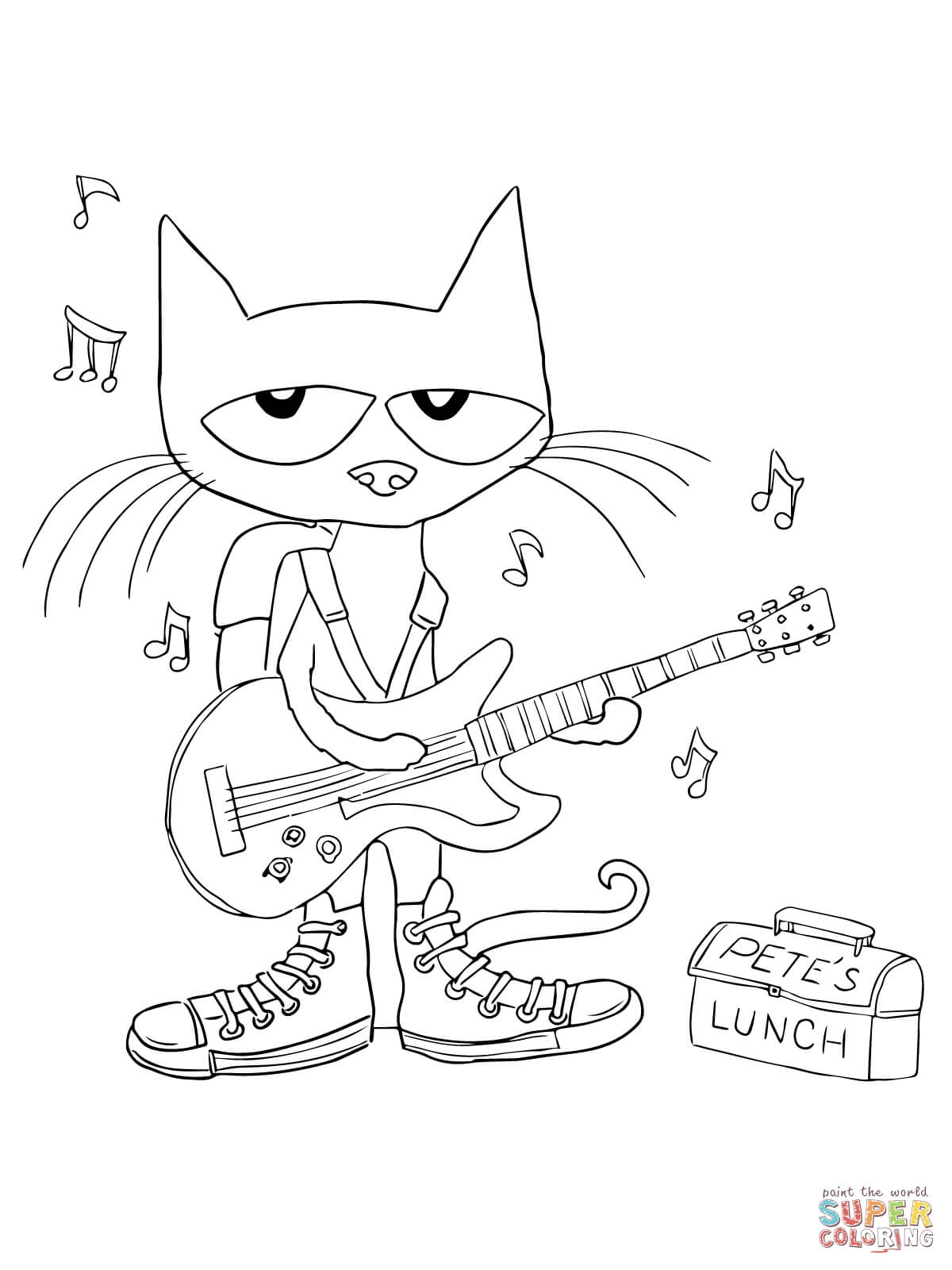 pete the cat coloring page - pete the cat coloring pages pet sketch templates