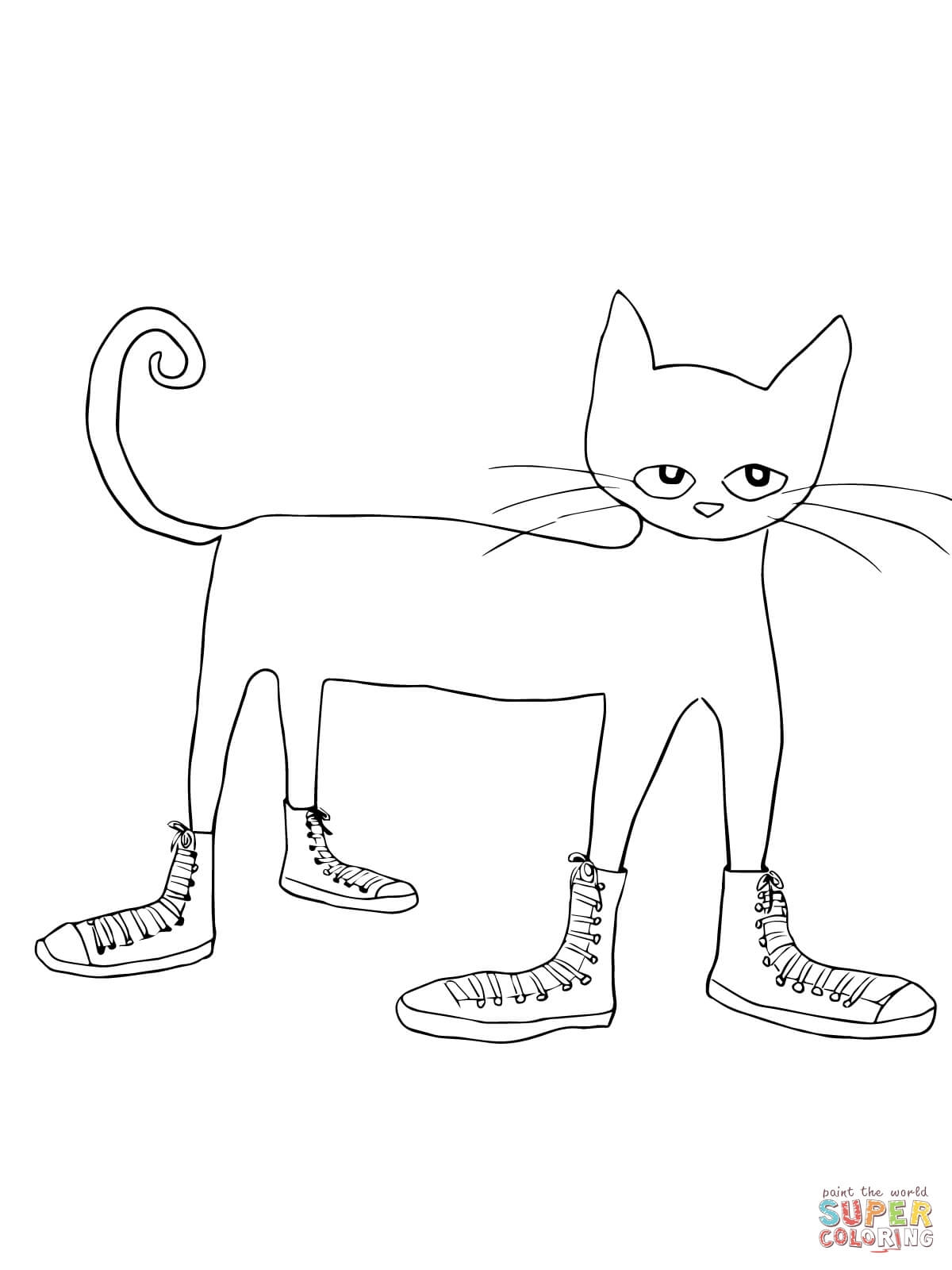 pete the cat coloring page - pete the cat i love my white shoes