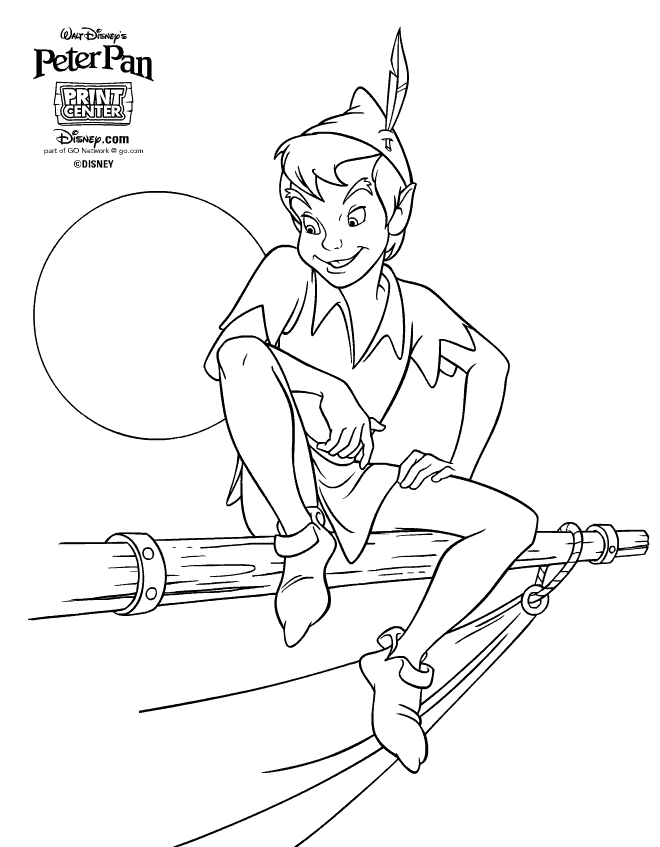 Peter Pan Coloring Pages   Peter Pan Coloring Pages