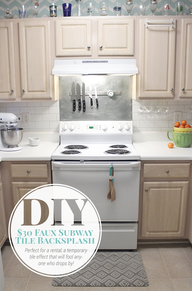 phone coloring page - faux subway tile painted backsplash