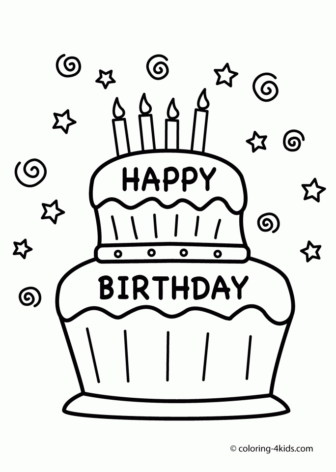 phone coloring page - happy birthday coloring pages free printable