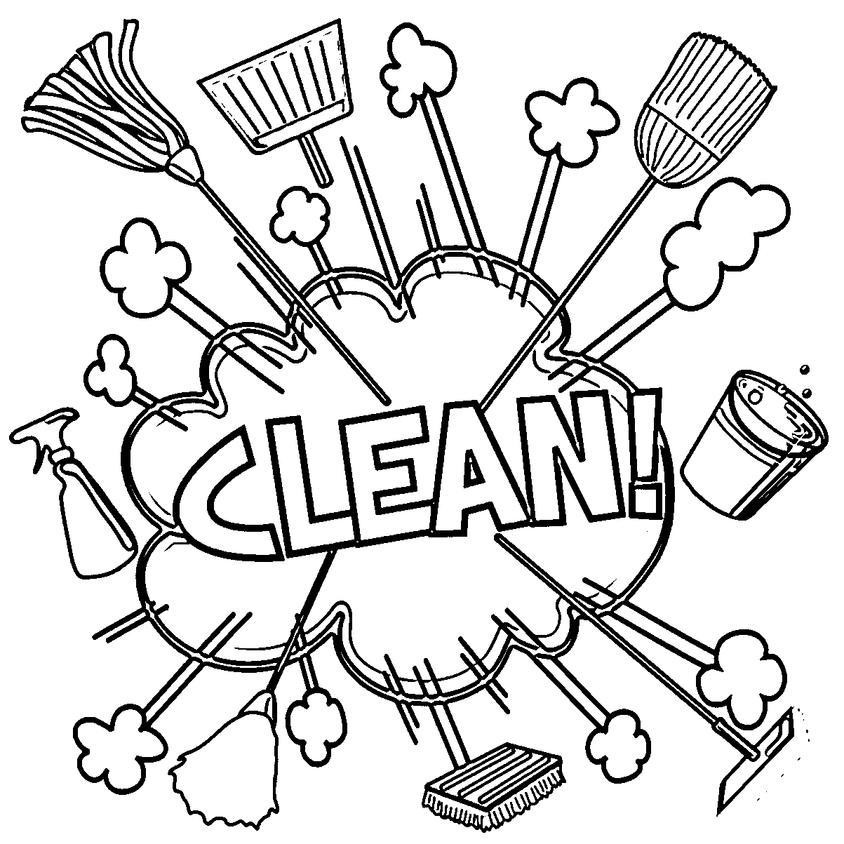 photo to coloring page - rigor photo cleaning coloring page