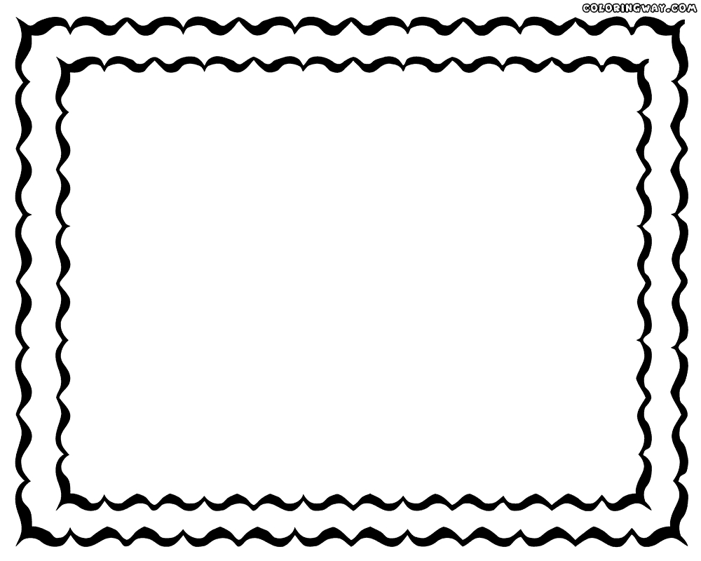 photo to coloring page - frame coloring pages