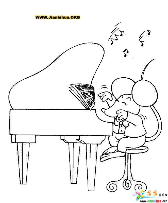 piano coloring pages - 134 20