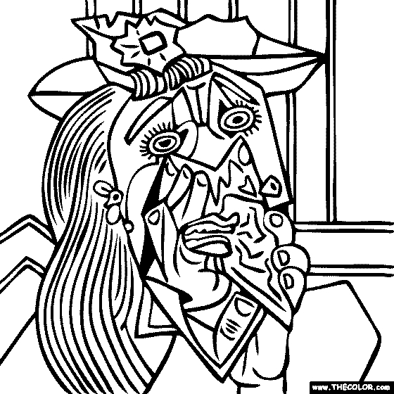 picasso coloring pages - pablo picasso