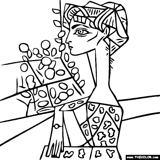 picasso coloring pages -
