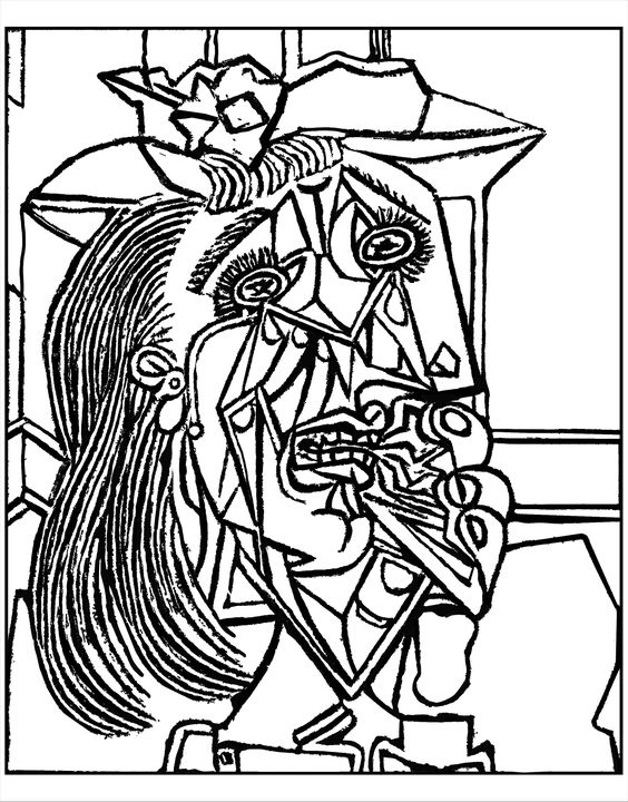 Picasso Coloring Pages - Picasso Cubism Coloring In Page Coloring Pages