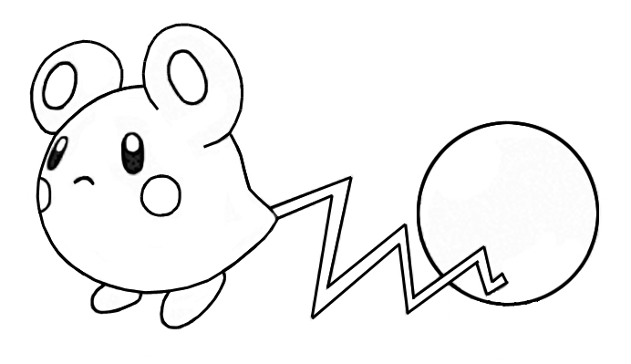 pichu coloring pages - kleurplatenrs