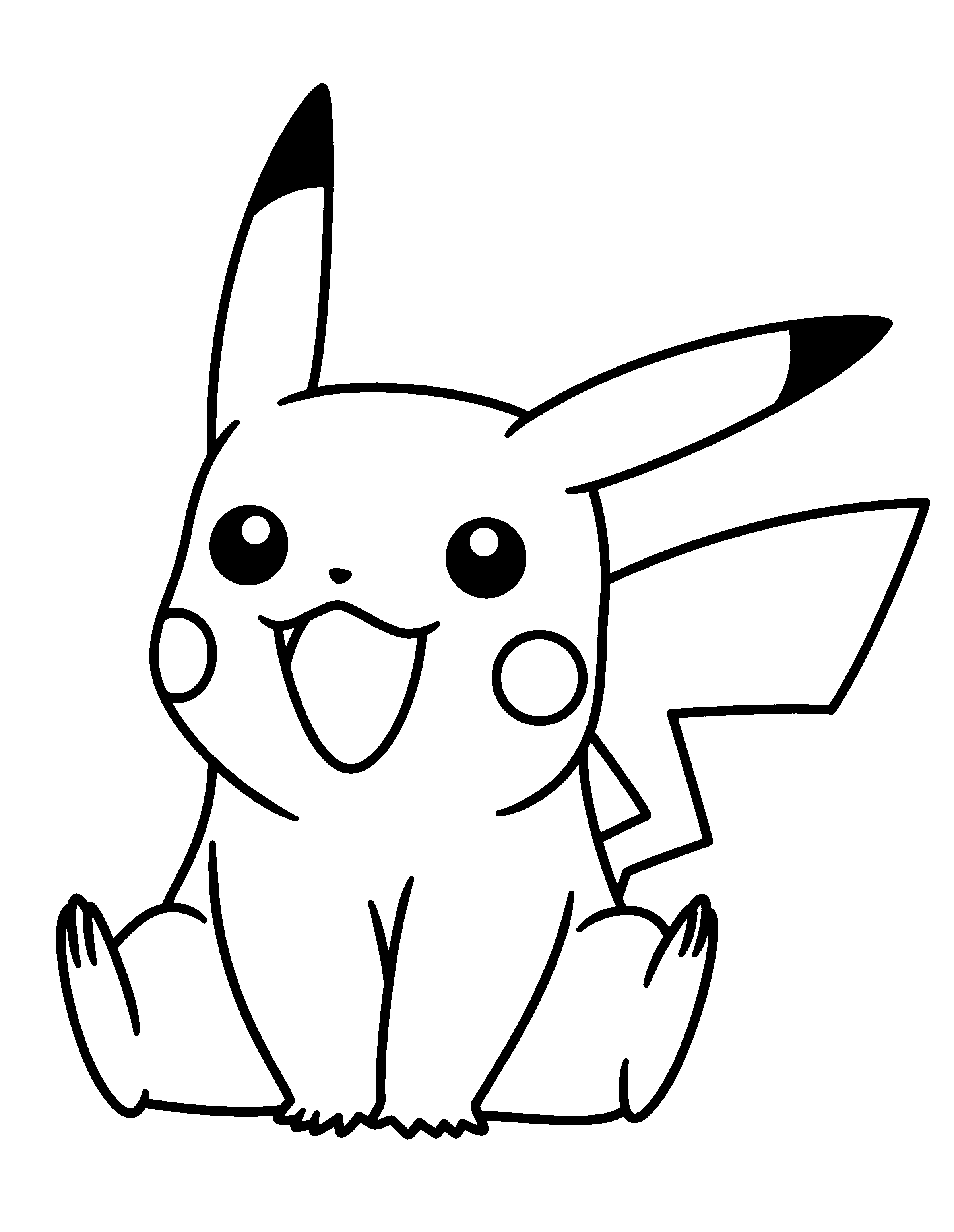 pichu coloring pages - pokemon coloring pages