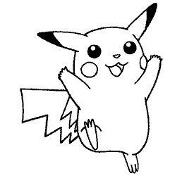 pichu coloring pages - pikachu