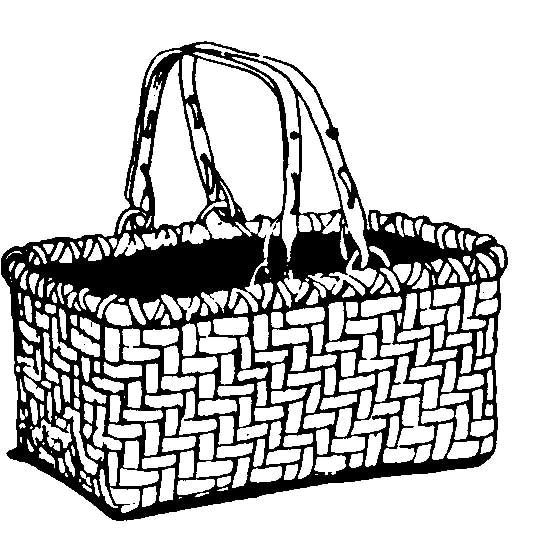 picnic coloring page - pictures of baskets