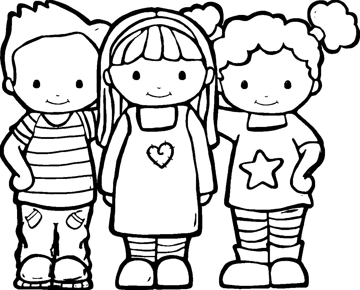 picture to coloring page - friendship coloring pages