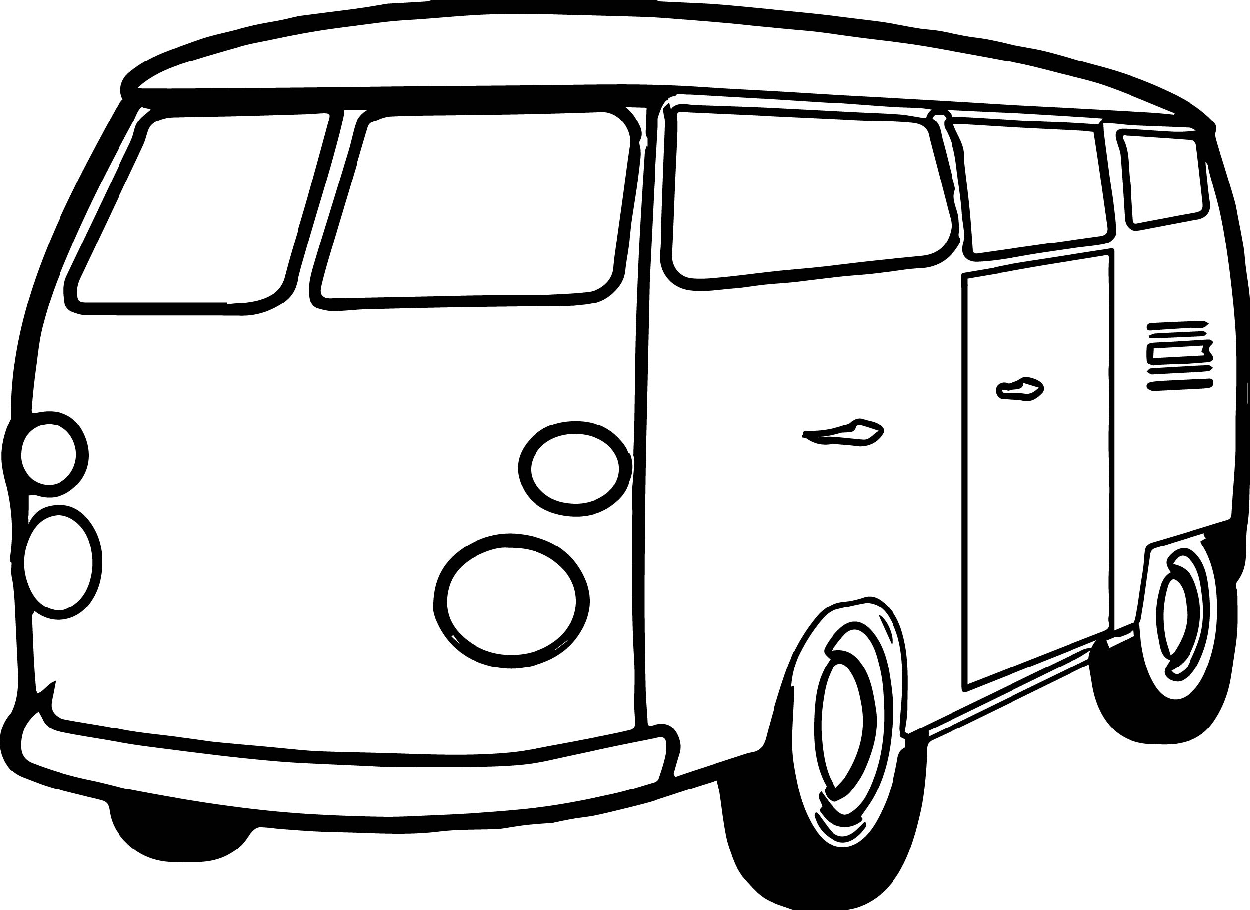 picture to coloring page - van minibus coloring page