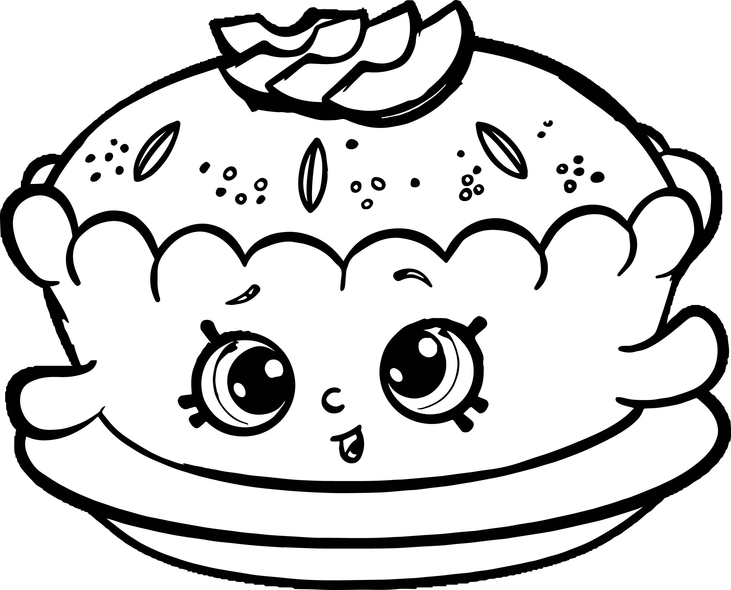 pie coloring page - apple pie alice coloring page