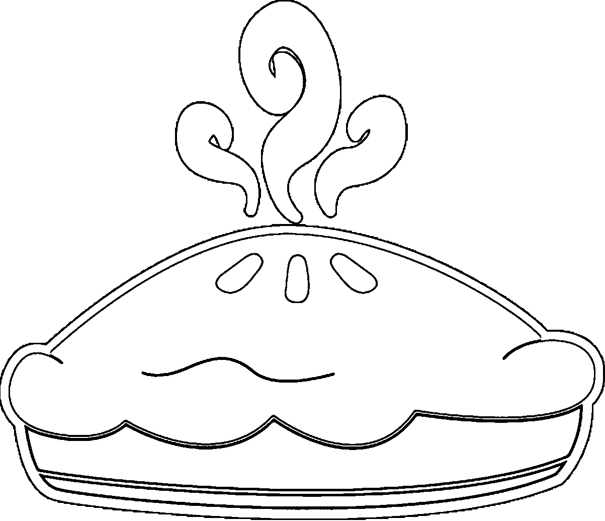 pie coloring page - apple pie coloring page
