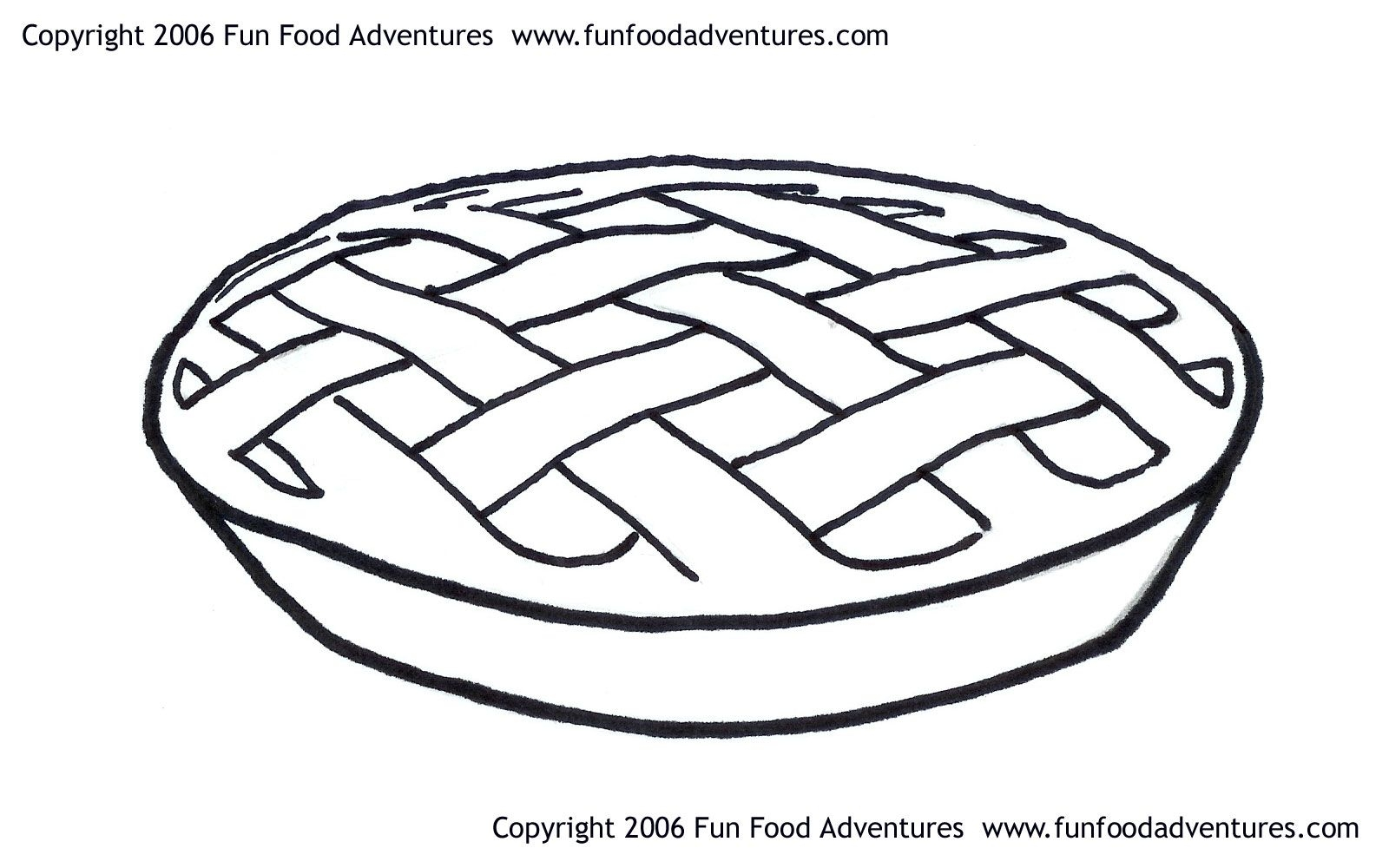 pie coloring page - apple pie coloring pages