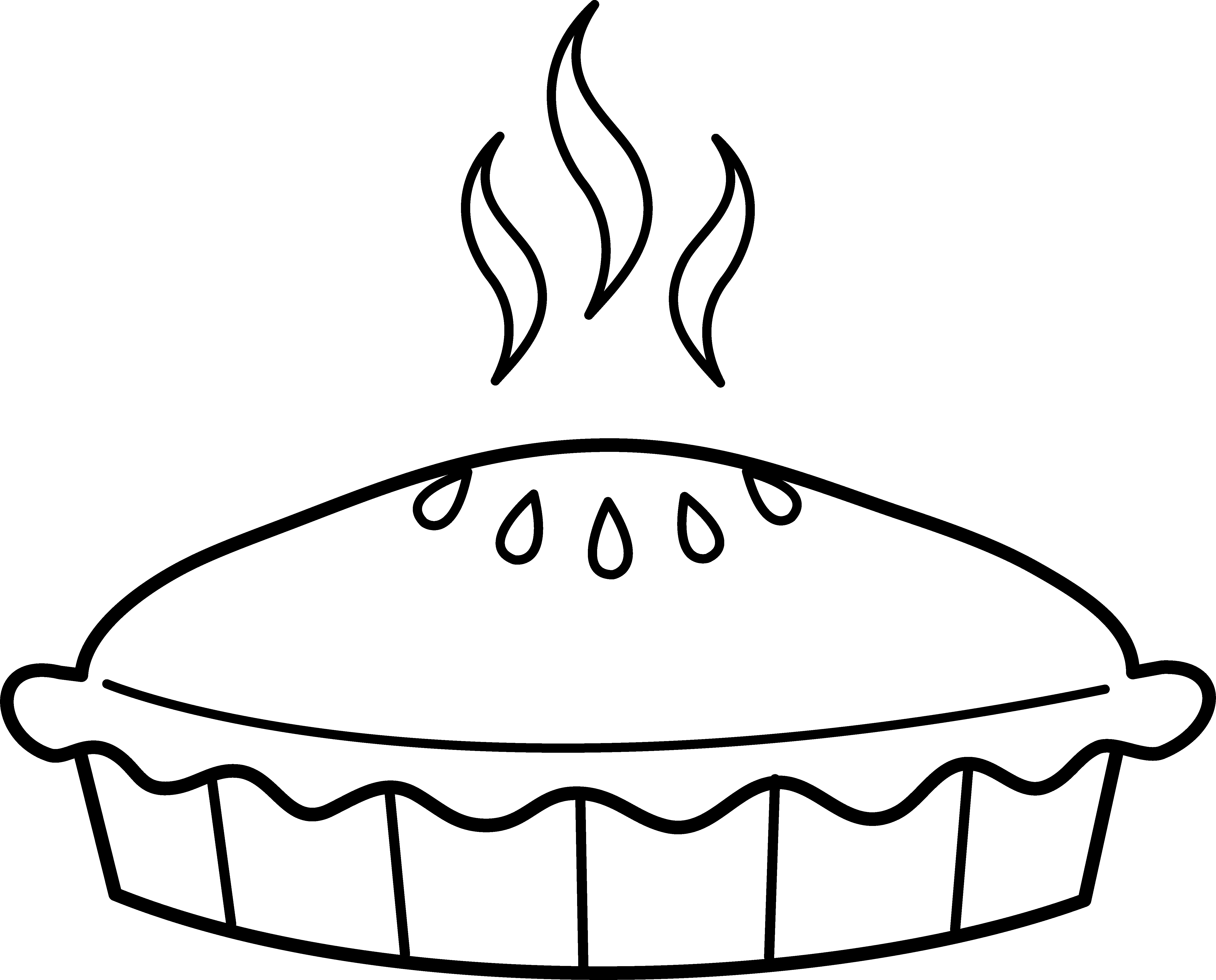 Pie Coloring Page - Pie Coloring Page Free Clip Art