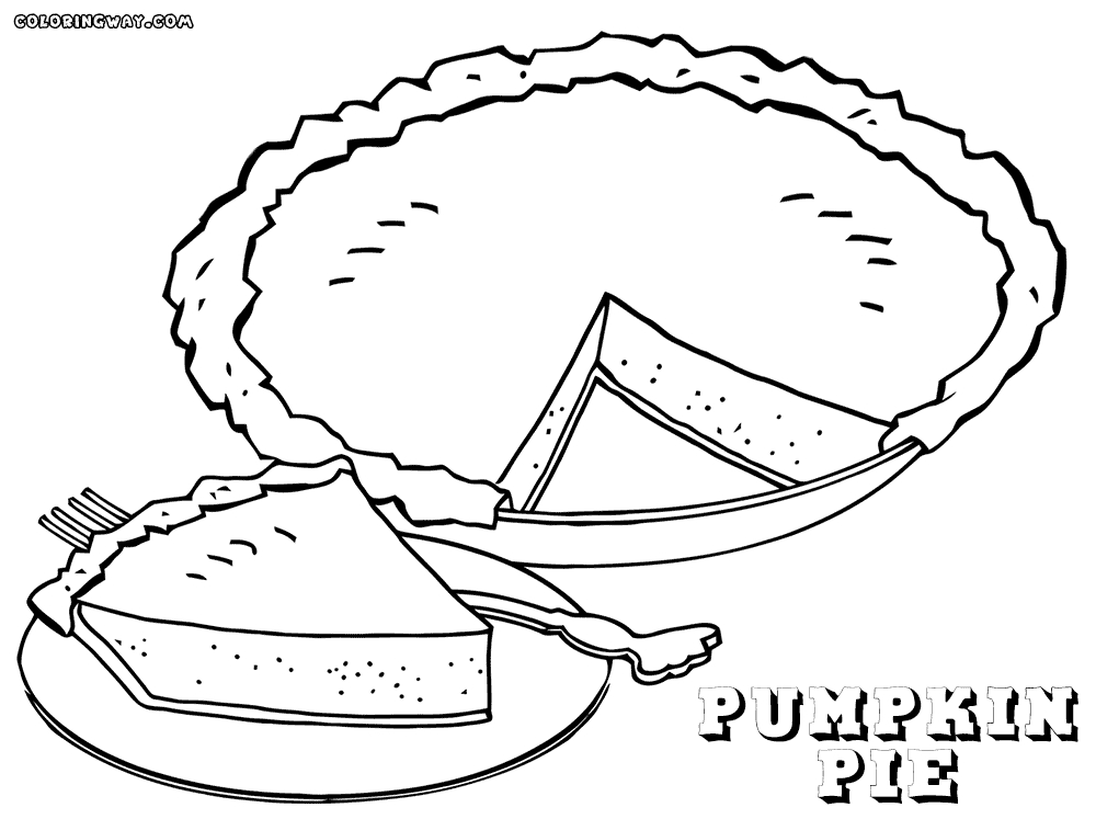 pie coloring page - pie coloring pages