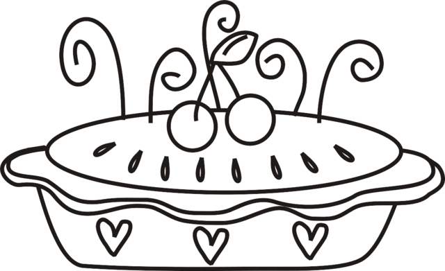 20 Pie Coloring Page Pictures