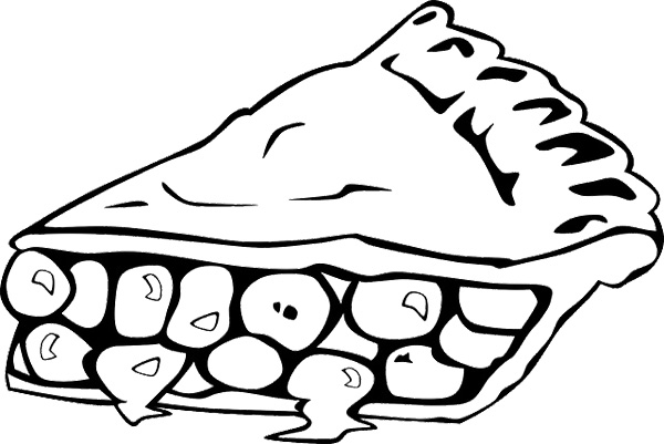 pie coloring page - pumpkin pie coloring page
