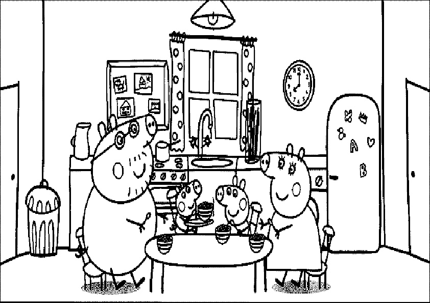 pig coloring pages - peppa pig 11