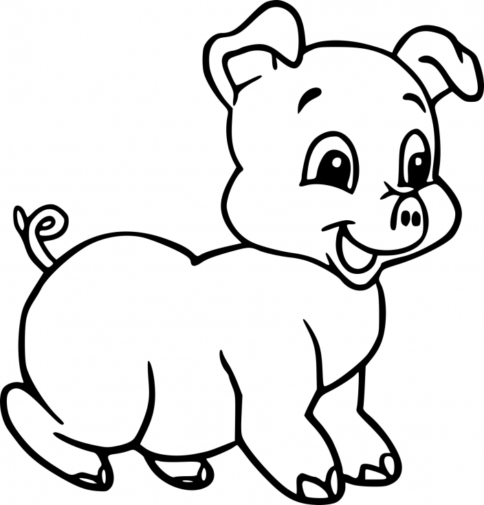 pig coloring pages - bebe cochon dessin