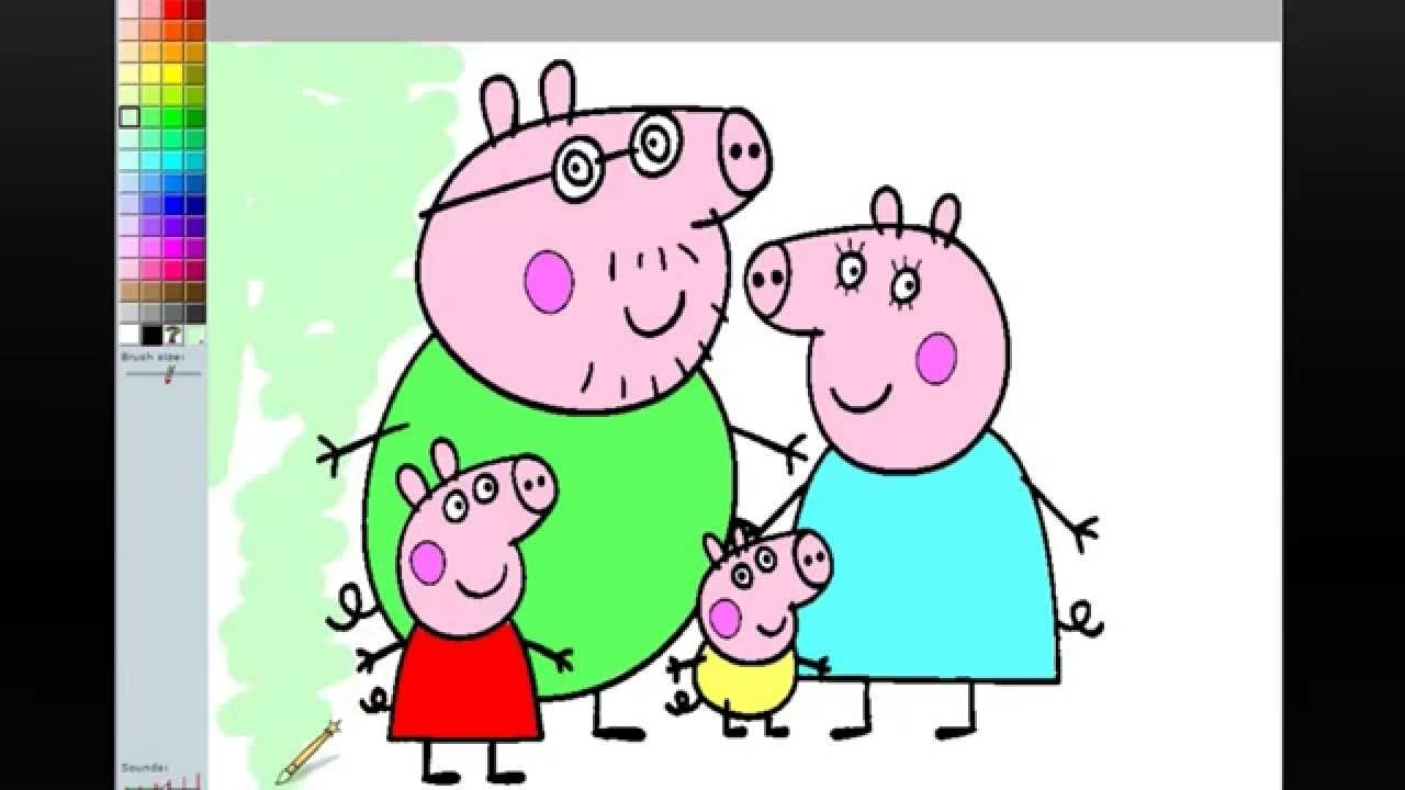 pig coloring pages - watch v=KvoLyJJUhT8