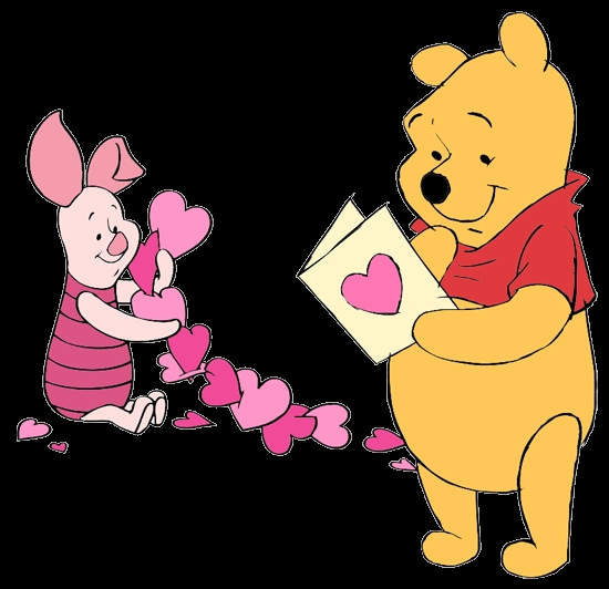 piglet coloring pages - valentinesday