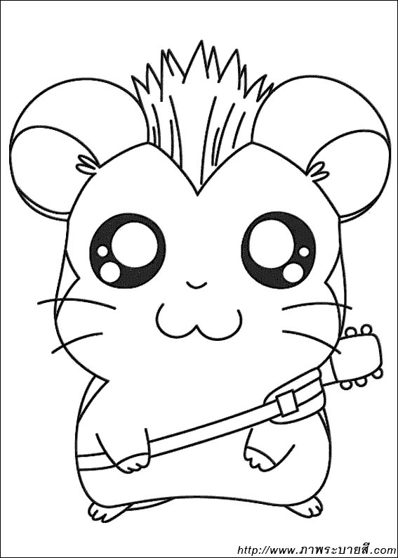piglet coloring pages - Hamtaro 09