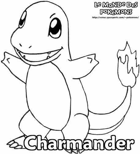 pikachu coloring pages - charmander