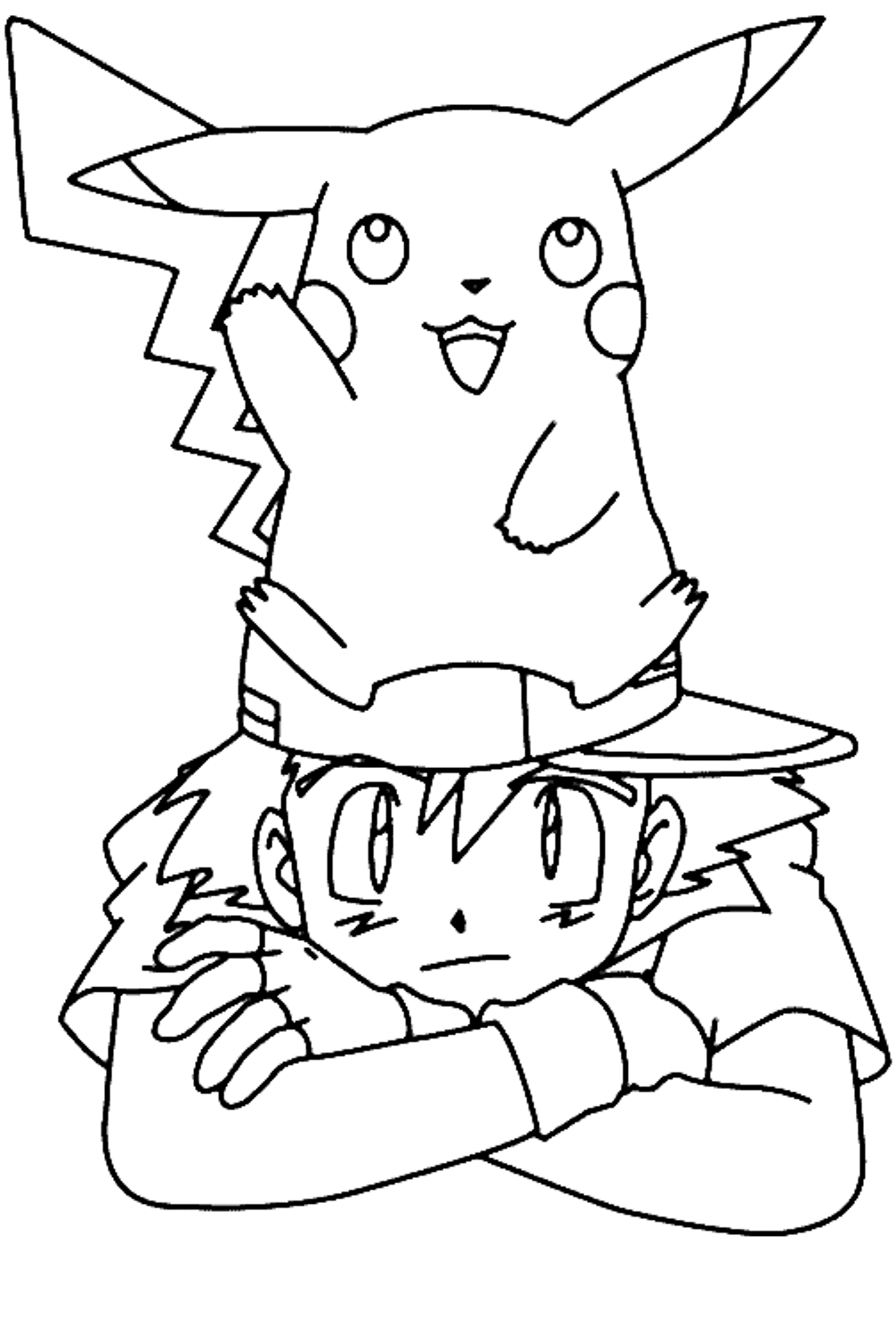pikachu coloring pages - pokemon cute pikachu coloring pages