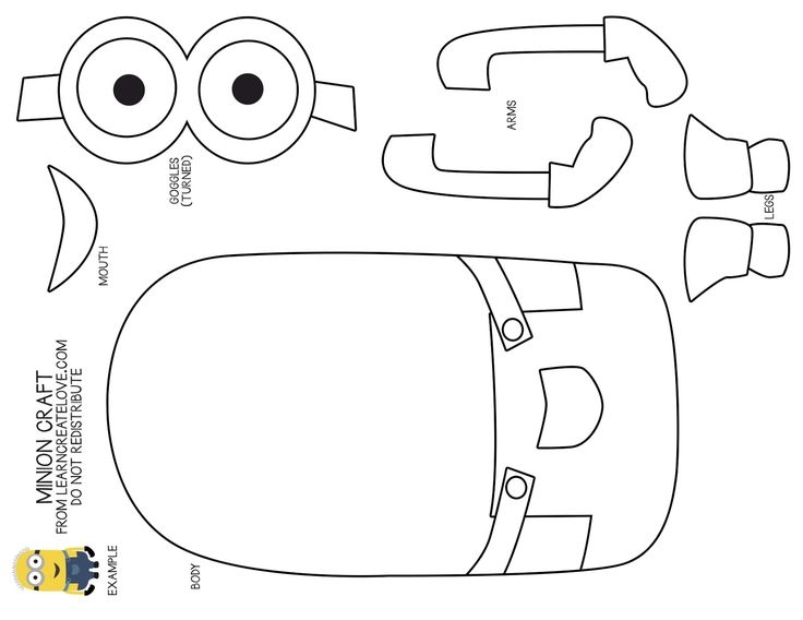 pilgrim coloring pages - minion template