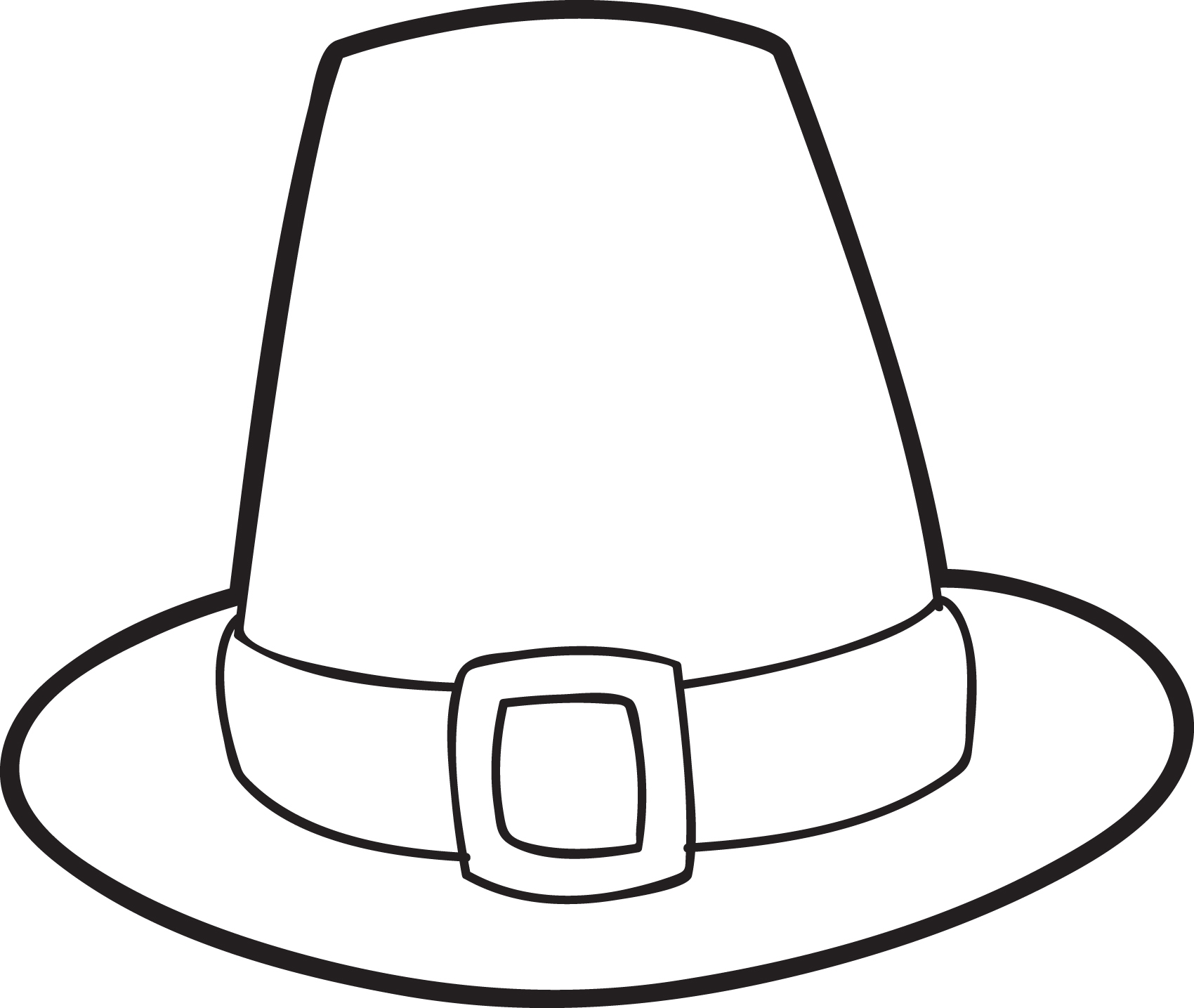 pilgrim coloring pages - file=4327 pilgrim hat coloring page
