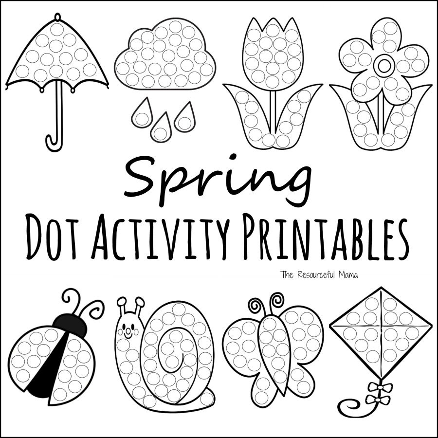 pilgrim coloring pages - spring dot activity printables
