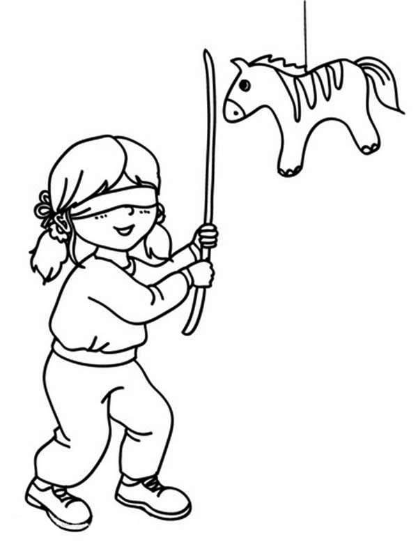 Pinata Coloring Page - Pinata Coloring Page Coloring Home
