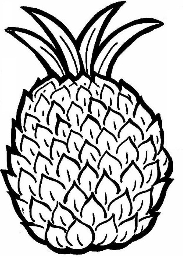 Pineapple Coloring Page - Free Printable Pineapple Coloring Pages for Kids