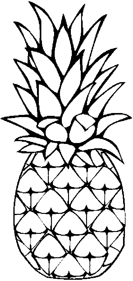 pineapple coloring page - img oncoloring a pineapple 499da868aaaa0 p