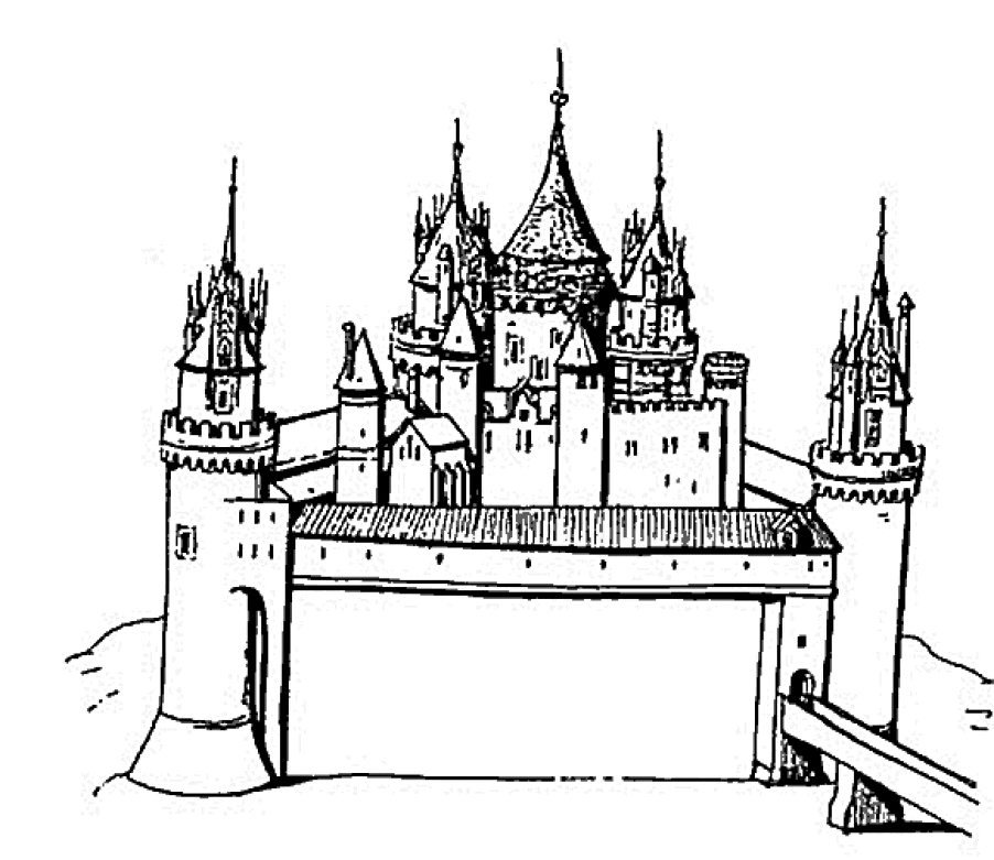 pinocchio coloring pages - schloss
