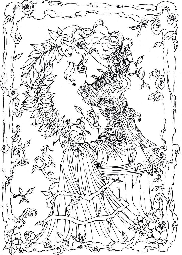 pinterest coloring pages - fantasy coloring pages