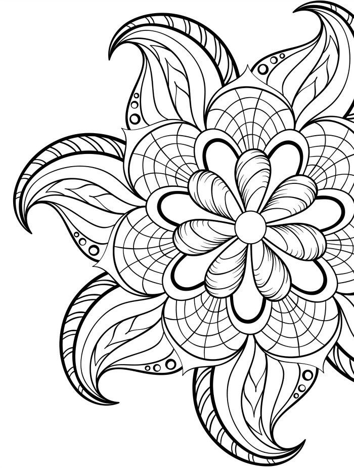 pinterest coloring pages - mandala printable