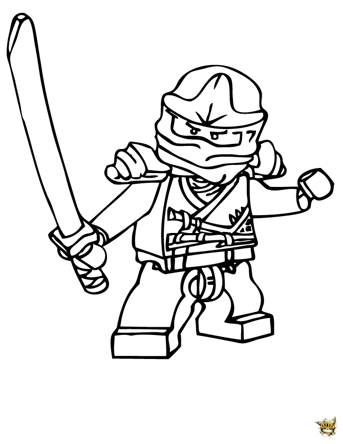 pirate coloring pages - ninjago lego
