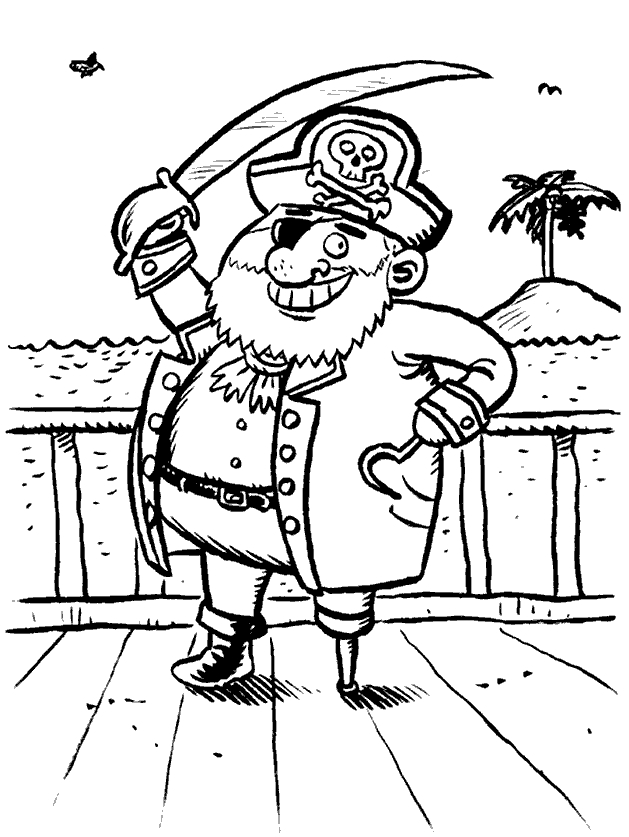 Pirate Coloring Pages - Pirate Coloring Pages Coloringpages1001