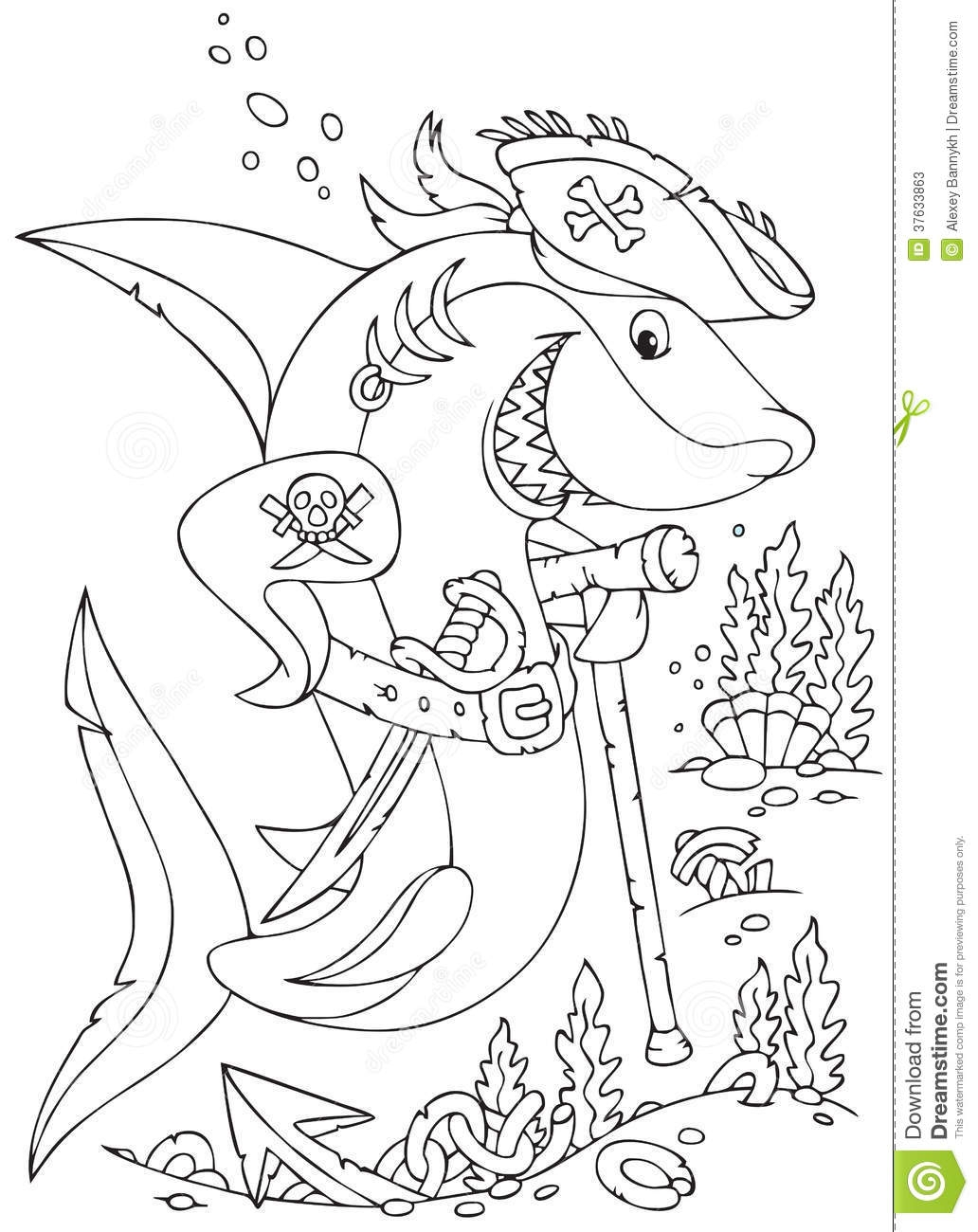 pirate ship coloring page - photos stock pirate de requin image