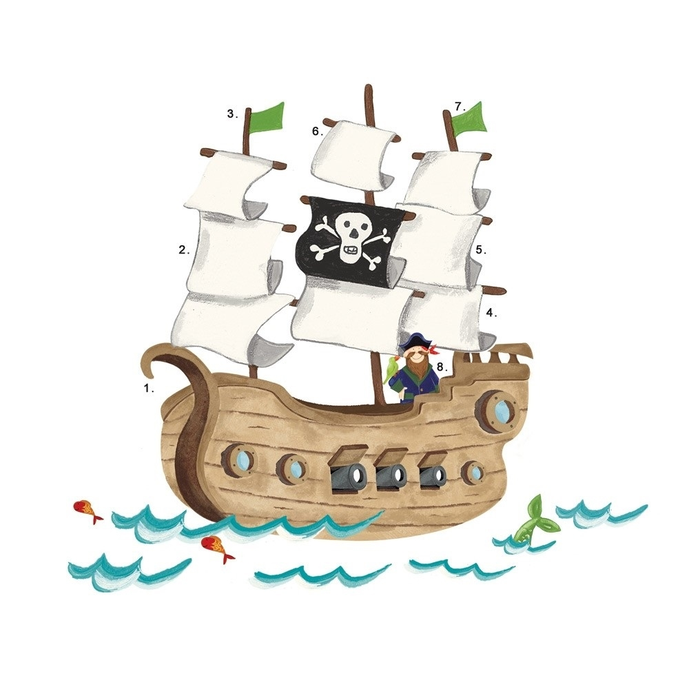 Pirate Ship Coloring Page - Pirate Ship for Kids Cute