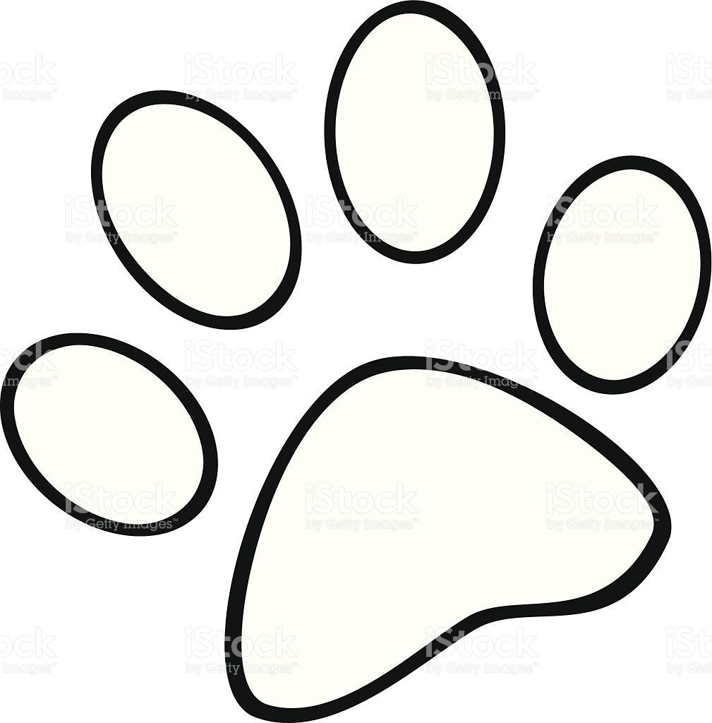 pitbull coloring pages - black and white paw print gm