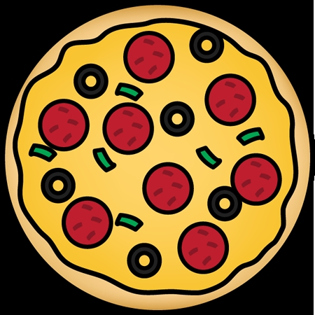 pizza coloring pages - cartoon pizza clipart