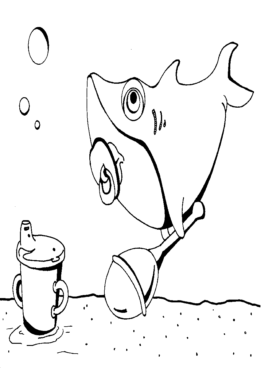 pizza coloring pages - kenny the shark coloring pages page 1