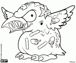 pizza coloring pages - trash pack coloring pages