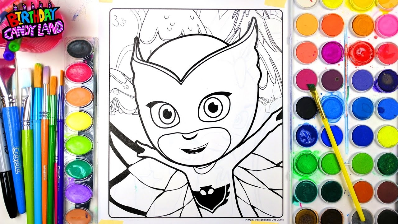Coloring Pages Pj Masks : Pj mask coloring pages printable free coloring pages