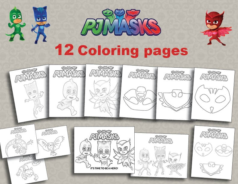 Pj Mask Coloring Pages - the Pj Masks Coloring Car Car Canyon